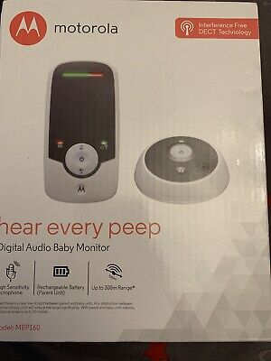 Motorola Audio Baby Monitor MBP160 BNIB FREE DELIVERY IN THE UK