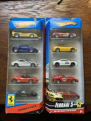 2009 And 2013 Hot Wheels Ferrari 5 Pack