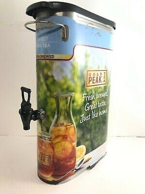 Stainless Steel 5 Gallon Gold Peak Sweetened Ice Tea Beverage Dispenser