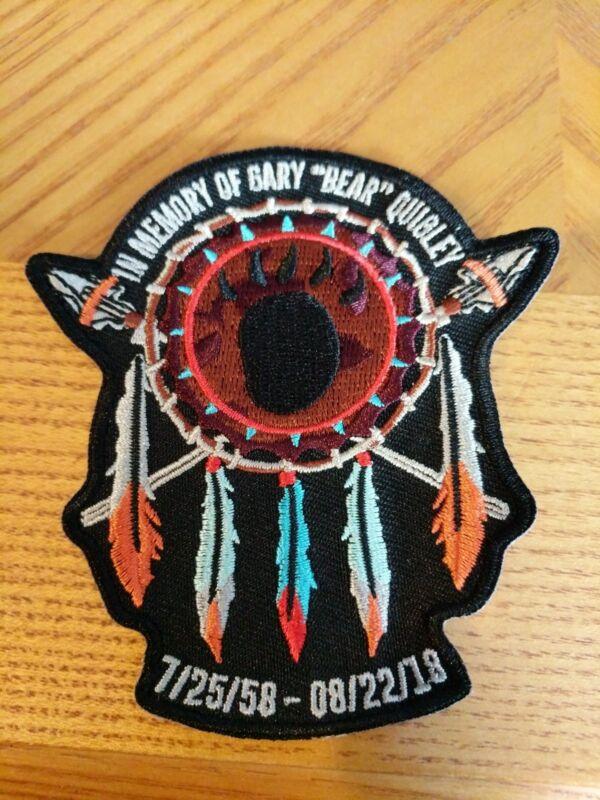 Gary Bear Quigley Memorial Patch