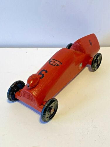 VINTAGE PINEWOOD DERBY CAR HAND CRAFTED