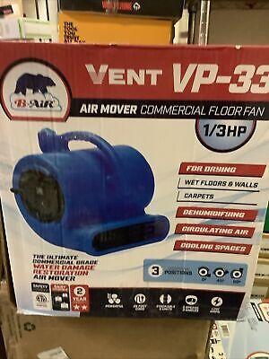 B-air Ba-vp-33-bl Vp-33 Carpet Dryer Floor Blower Fan - Blue