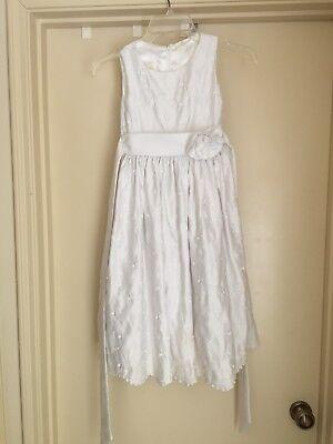 Cinderella Size 7 Communion Wedding Pageant White Dress Petticoat- Needs TLC ](Cinderella Communion Dresses)