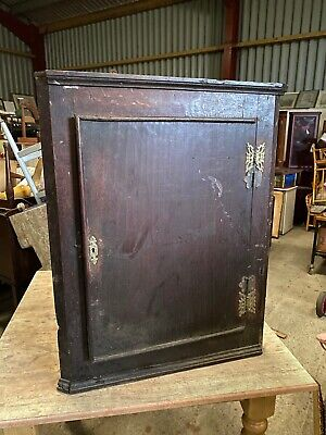 Old Antique Corner Wall Mount  Cabinet Cupboard  9/11/P