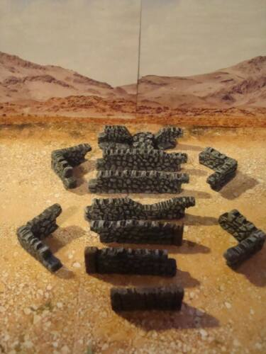 Painted Cobble Walls, for wargame scenery, building terrains, OO gauge trains