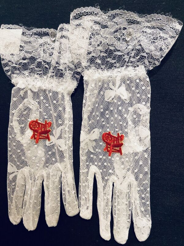 Eastern Star Lace HOJ Heroines of Jericho OES Lace Mason gloves