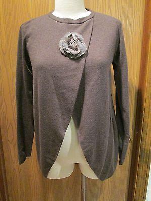 Brunello Cucinell Cashmere Espresso Pullover Sweater Size M