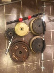Weights and curl bar