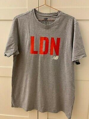 NEW BALANCE Men's T-shirt in grey LND text on size XL