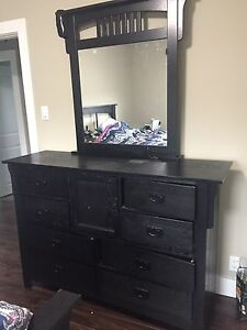 Double/full  size bed frame , dresser with mirror & nightstand