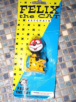 FELIX THE CAT PILOT PLANE KEYCHAIN VINTAGE BRAND NEW VERY RARE