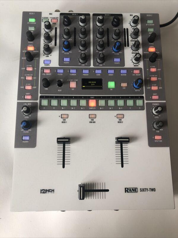 Rane 62 Sixty Two DJ Mixer W/ 12inchskinz Magnetic Skin **Used w/ Some Wear**