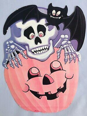 Jack Skeleton Halloween Decorations (Vintage Halloween Decorations Wall Art Skeleton Bat Pumpkin Jack o)