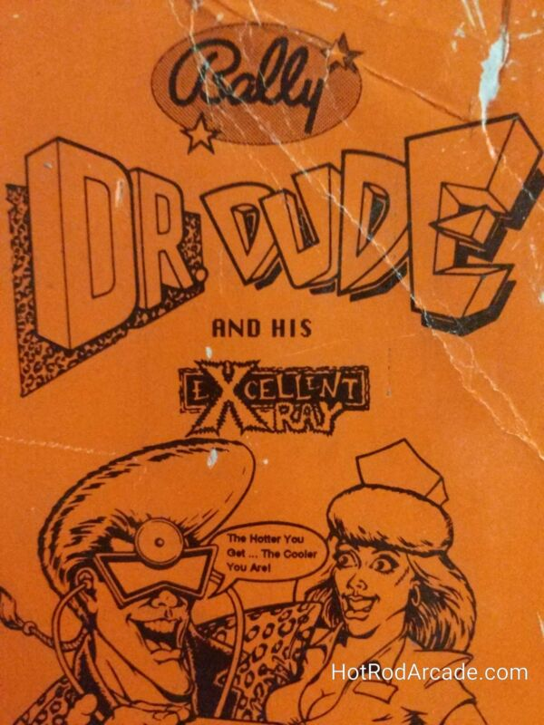 Dr Dude and His Excellent X Ray - Bally - Pinball Manual  - Schematics - Instruc