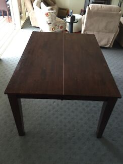 Timber dining table extenable Upwey Yarra Ranges Preview
