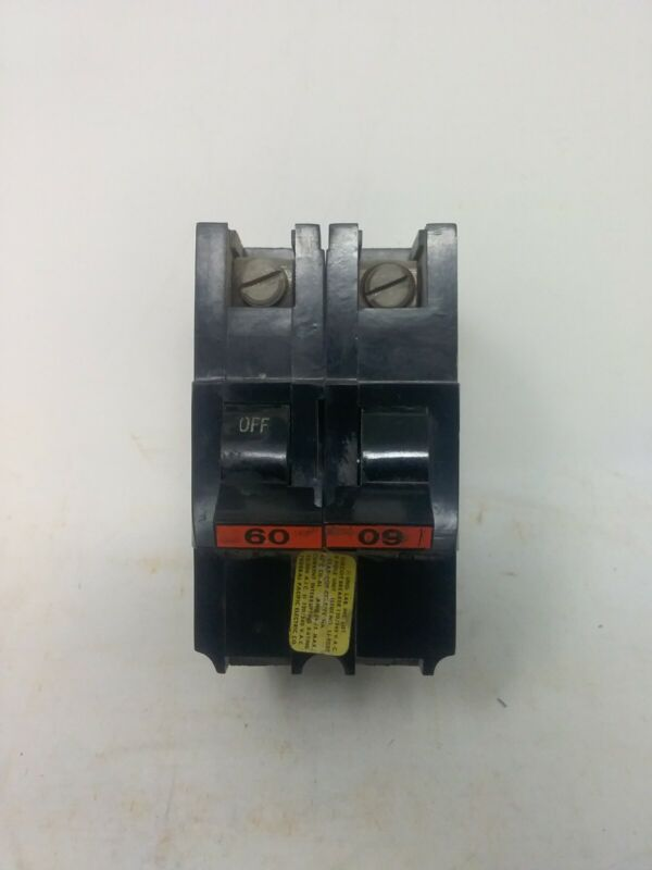 Federal Pacific American 60 Amp  2 Pole Circuit Breaker Type NA 120/240 V