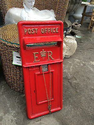 British Royal Mail ER II Cast Iron Post Box Front Post Office Box Fascia
