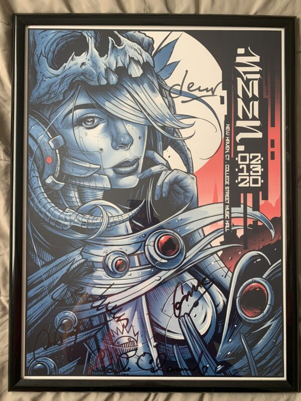 Ween 2/13/20 Full band Signed And #'d (#62/175) Poster NM condition. Free Ship!