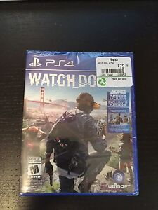 Brand new watch dogs 2 for ps4