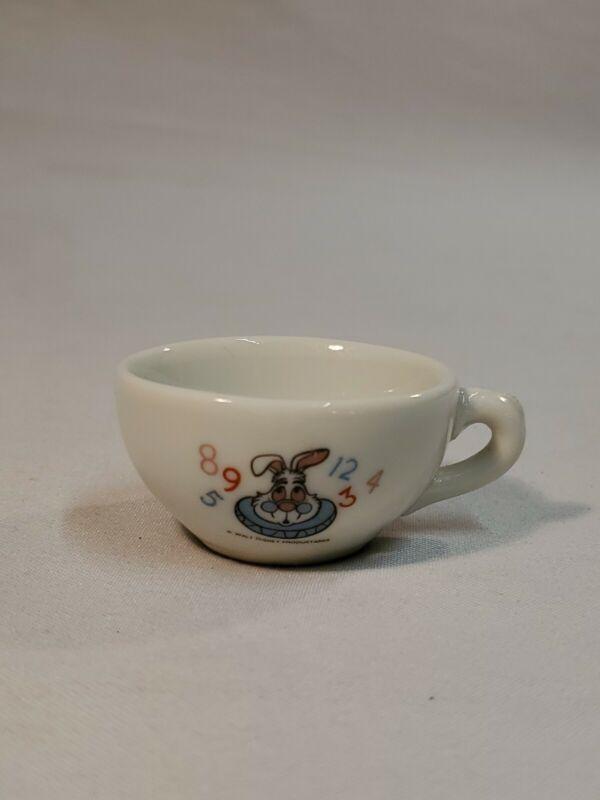 Vintage Disney Alice Wonderland White Rabbit Teacup Made In Japan RARE