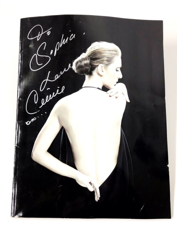 Autographed Authentic Celine Dion Caesars Palace The Colosseum 10X13 Magazine