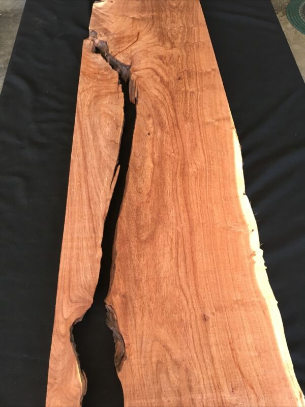 "Bubinga, 2 Pcs, River Table, 43 1/4"" Long, 12 3/4"" Wide, 7/8"" Thick, Dry"