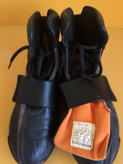 BMW ladies motorcycle black leather boots good condition