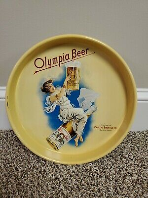 """Vintage 13"""" Tin Tray Advertising Olympia Beer Capital Brewing Co. Olympia, Wash."""