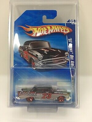 2010 Hot Wheels #103 '57 Chevy Bel Air - Edelbrock - HW Performance  - Black