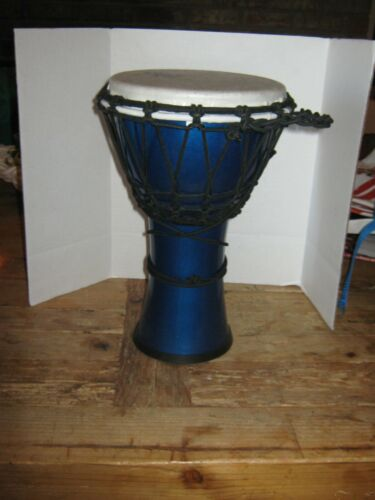 12 inch Djembe Drum Toca hand percussion, metal blue base