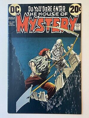 HOUSE OF MYSTERY #209 BERNI WRIGHTSON COVER ART DC 1972 CLASSIC GRAVE DIGGER!