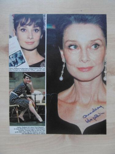 Audrey Hepburn Autogramm signed A4 Magazinbild