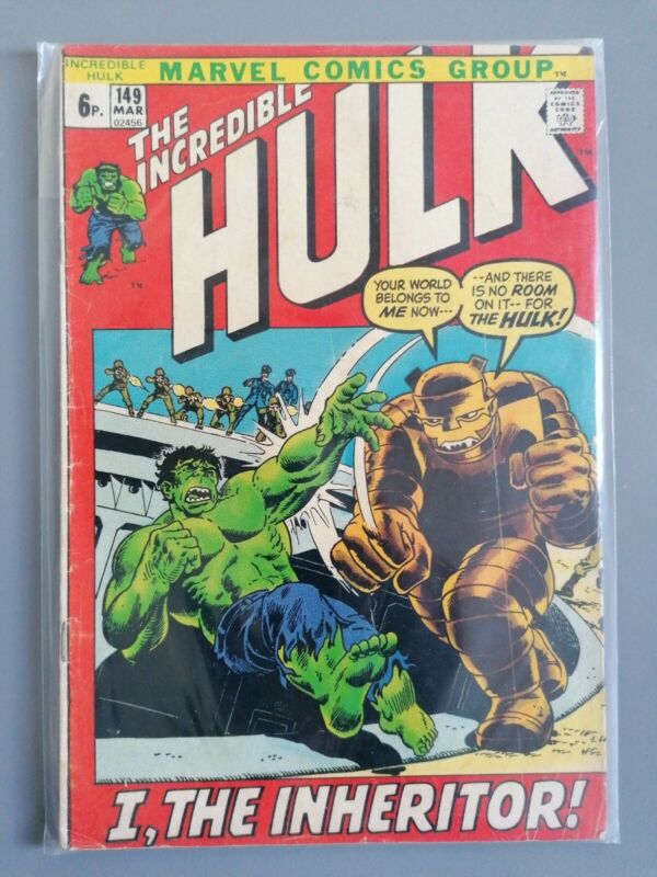 Incredible Hulk #149, Marvel Comics 1972, Inheritor