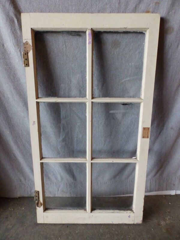 Old Antique Vintage 6 Lite Casement House Window Shabby Vtg 1764-16