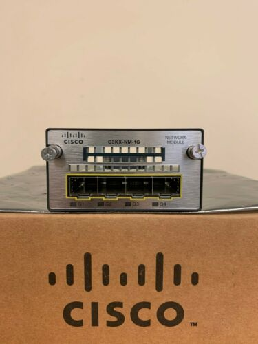 Cisco C3KX-NM-1G 4-Port Gigabit SFP Network Module (SAME DAY SHIPPING)