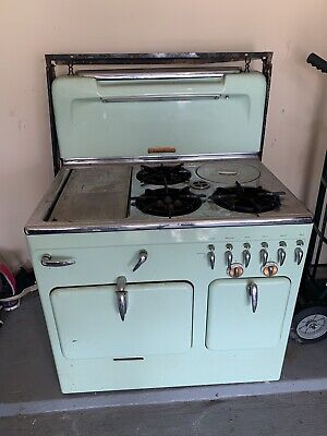 Vintage STOVE by Chambers Gas Model 61 C 1950's Turquoise