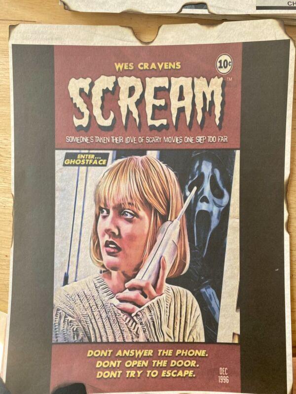 scream horror comic Cover wes craven ghostface