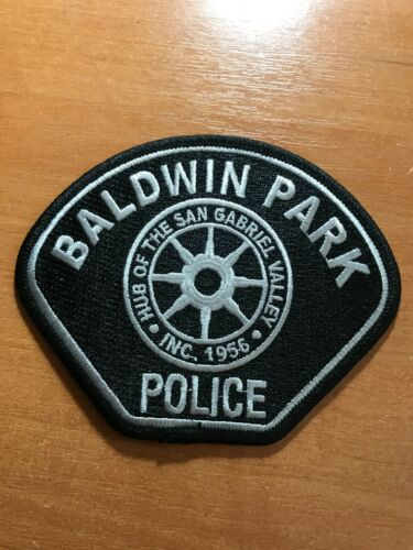 PATCH POLICE BALDWIN PARK CALIFORNIA STATE