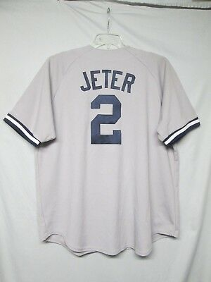 - MLB New York Yankees Derek Jeter Majestic Road/Away Gray Jersey Size 2X