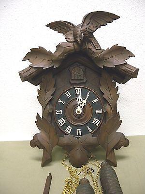 Antique c.1905 American Cuckoo Co. Philadelphia Clock Eagle Crest RESTORED!