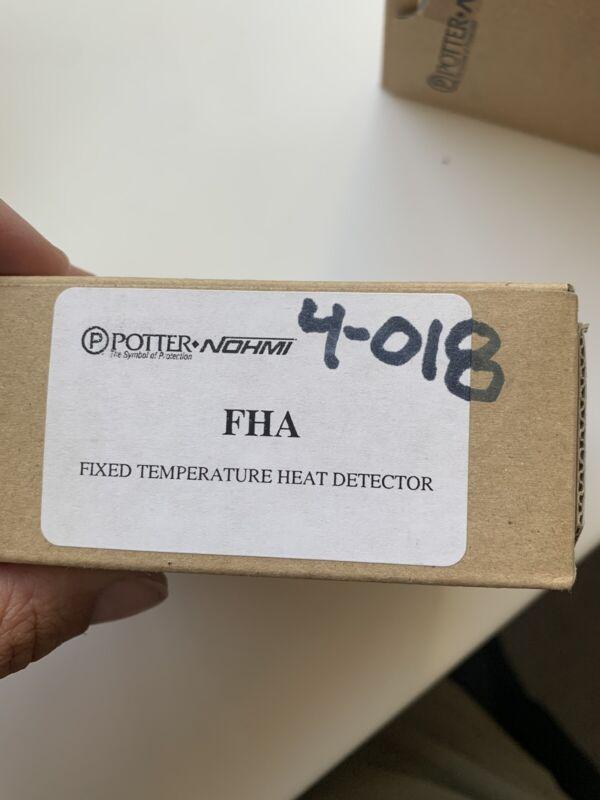 Potter FHA (1430803) 4-018 Addressable Fixed Temperature Heat Detector New