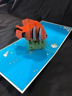 Finding Nemo Birthday Card (3D Pop Up Card Finding Nemo Greeting Card Clown Fish Ocean Dori Birthday Sea )