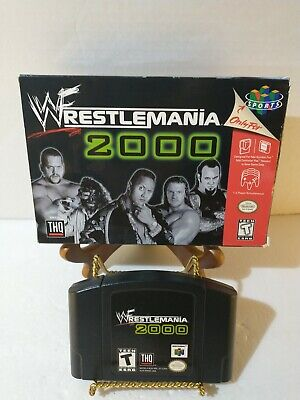 WWF WrestleMania 2000 | Nintendo 64, 1999 Game & Box no Manual N64