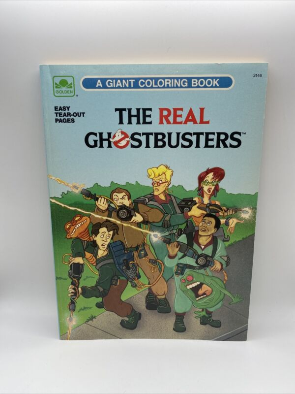 Vintage 1989 The Real Ghostbusters Giant Coloring Book (UNUSED) Rare!