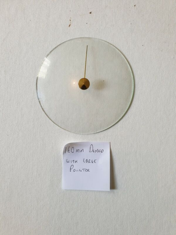 Barometer replacement glass - 160mm Domed with large pointer