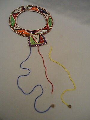 VINTAGE AFRICAN MAASAI MASAI BEADED ETHNIC TRIBAL WEDDING NECKLACE AS IS