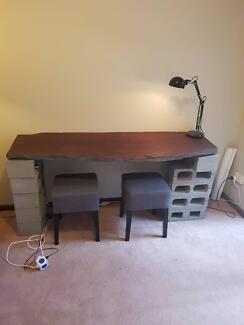 Rustic Wooden desk/bench