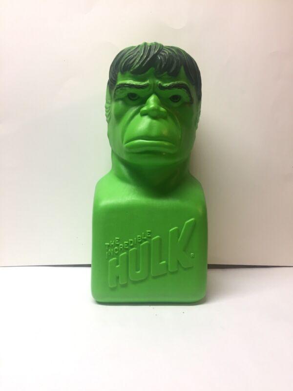 1978 Vintage Incredible Hulk MARVEL Piggy Bank With Original Stickers
