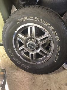 American Racing truck rims and tires . 17 inch , $700.