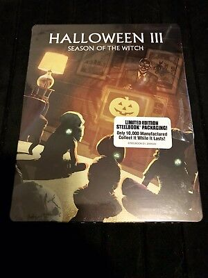 Halloween III 3 Season Of The Witch Steelbook (Blu-ray, Limited Edition) SEALED! (Witch Halloween Movies)